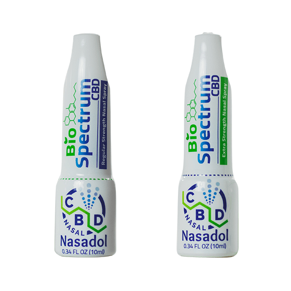 Nasadol by Biospectrum - Nasal Spray - both Regular Strength and Extra Strength, at Brick and Mortar Hemp Company in Sheboygan, WI